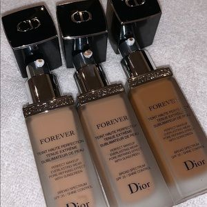 Dior Forever Foundation in 020 035 050 barely used